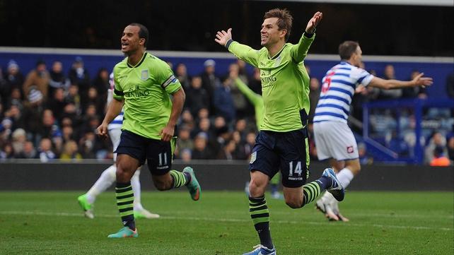 Brett Holman opened the scoring for Villa