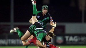 Willie Faloon of Connacht takes a catch against Edinburgh in a RaboDirect PRO12 game in Galway