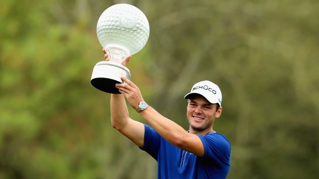 Martin Kaymer celebrates after winning the 2012 Nedbank Golf Challenge in Sun City