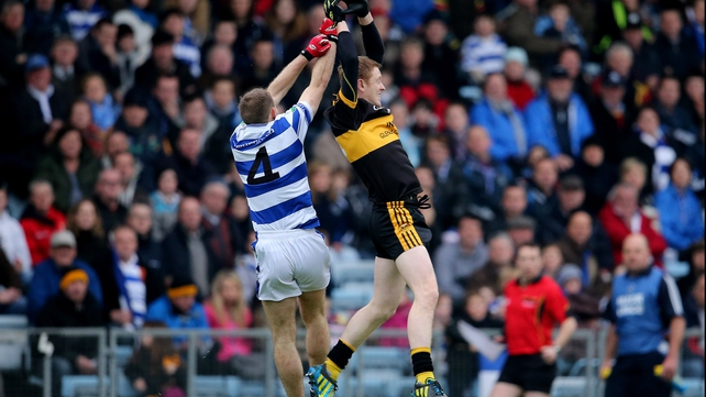 Colm Cooper (r) scored 0-03 for Dr Crokes