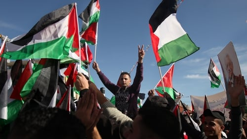Palestinians celebrated the return of President Mahmoud Abbas from New York
