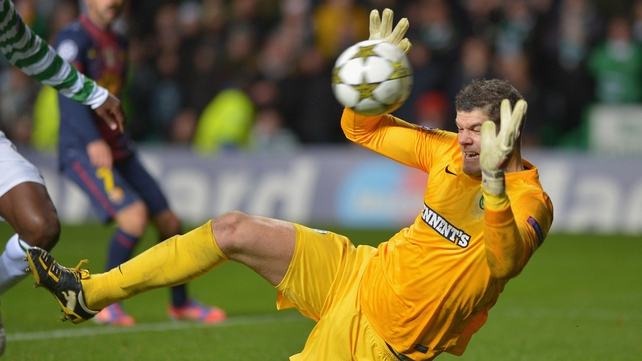 Forster produced many world class saves during Celtic's Champions League games with Barcelona