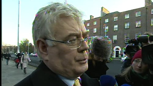 Eamon Gilmore said Labour members would see the job through