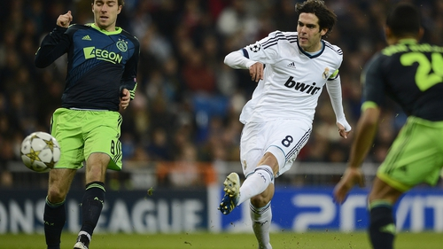 Kaka scoring for Real in their comfortable win over Ajax