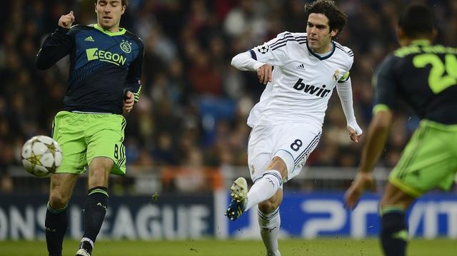 Kaka scores for Madrid against Ajax