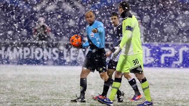 Dynamo Zagreb snow