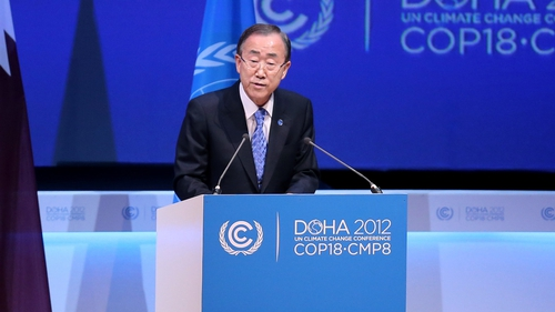 Ban Ki-moon said it was time to 'prove wrong' those who still have doubts about global warming
