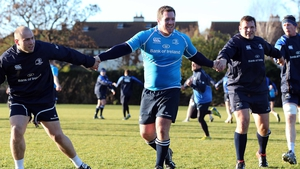 Heineken Cup champions Leinster train ahead of the their round 3 clash with Clermont