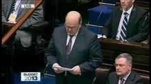 Finance Minister Michael Noonan's Budget Speech