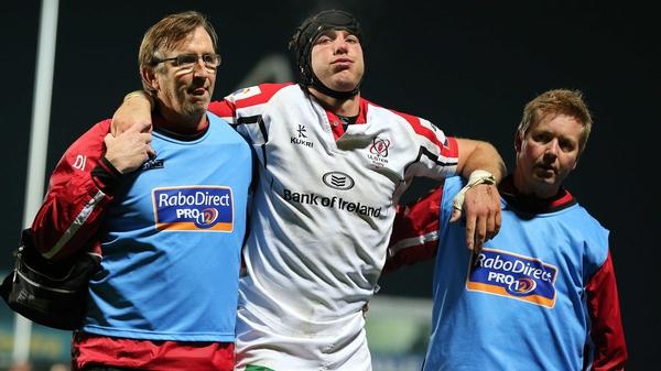 Stephen Ferris limps off against Edinburgh