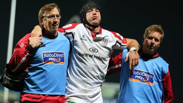 Stephen Ferris limps off against Edinburgh