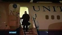 Hillary Clinton arrives in Dublin