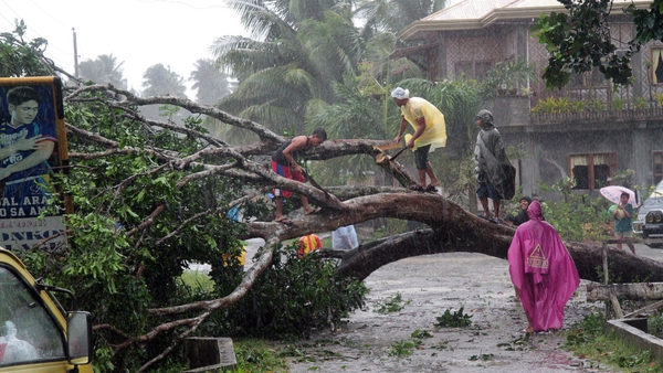 Thousands have been forced to leave their homes because of Typhoon Bopha