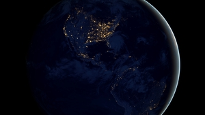 The image is a global composite image, constructed using cloud-free night images (Pic: NASA)