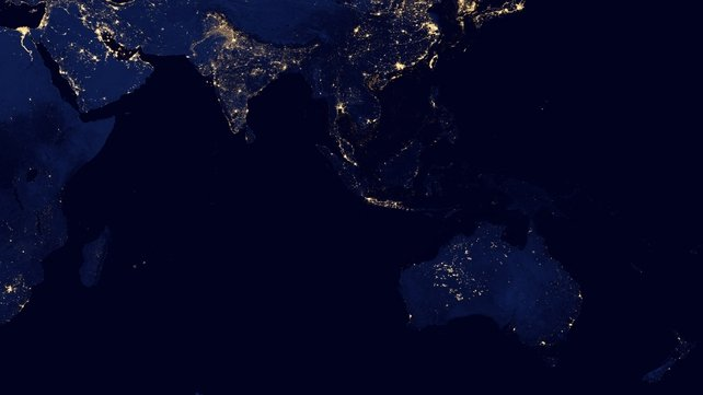 Asia and Australia at night (Pic: NASA)
