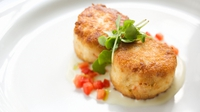 Crab cakes with lime guacamole - These are a really hearty and healthy main or starter, which can be dressed up or down for whatever occasion!