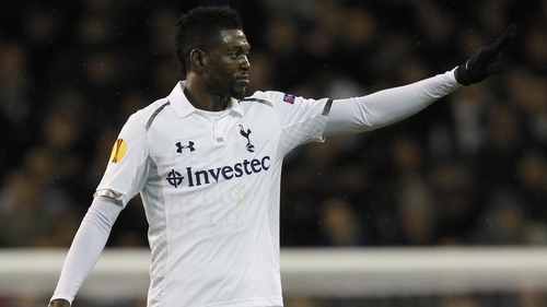 Emmanuel Adebayor opened the scoring at White Hart Lane