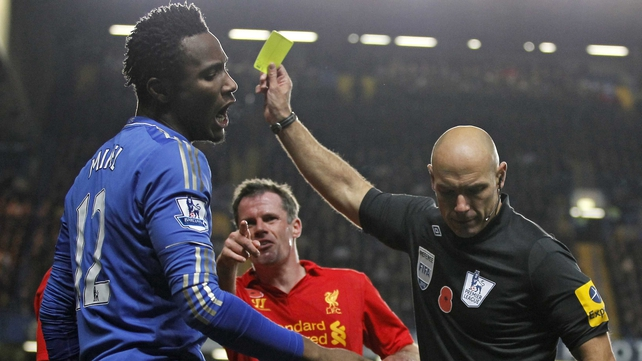 John Obi Mikel entered Mark Clattenburg's dressing room to confront him