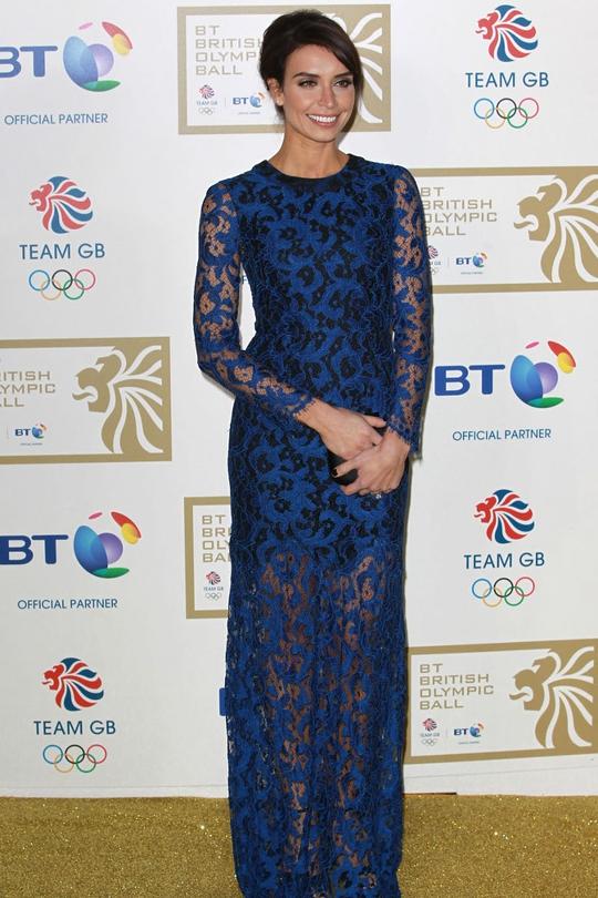 Christine Bleakley looking elegant and almost regal,
