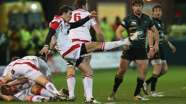 Ulster star Ruan Pienaar in action at Franklin's Gardens