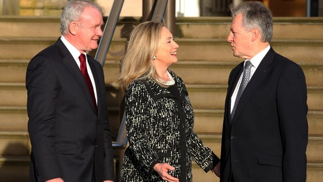 US Secretary of State Hillary Clinton was in Northern Ireland this morning