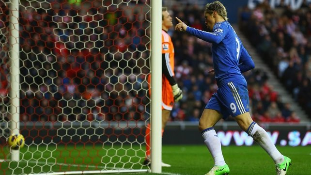 Fernando Torres opened the scoring for Chelsea in their 8-0 thumping of Aston Villa
