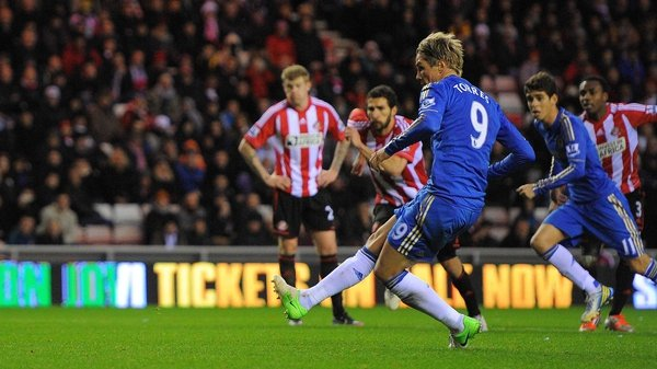 Fernando Torres scored twice in the first half to set the Blues on their way