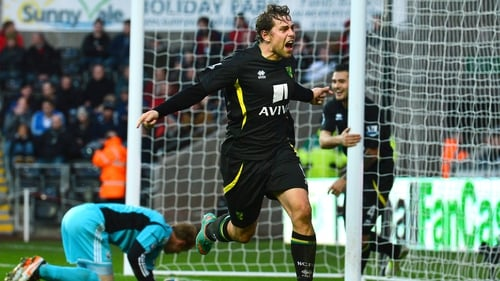 Grant Holt scored Norwich's third just before half-time