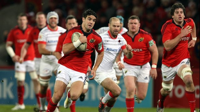 Conor Murray had an early chance but his pass for Simon Zebo didn't go to hand