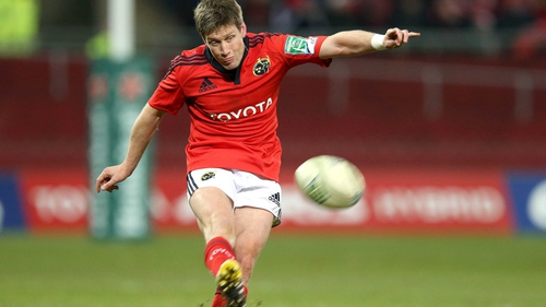 Ronan O'Gara scored all of Munster's points in Limerick