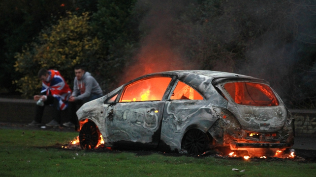 Car was set on fire in east Belfast