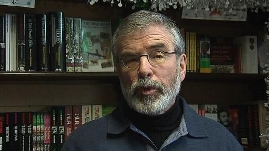 Toghchán2014: Gerry Adams , Uachtarán Sinn Féin.