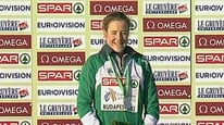 Watch Fionnuala Britton receive her gold medal in Budapest