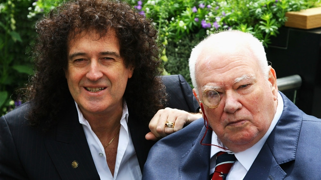 Brian May (l) descried Patrick Moore (r) as 'irreplaceable'