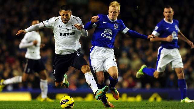 Everton have edged past Spurs on goal difference into fourth place in the table