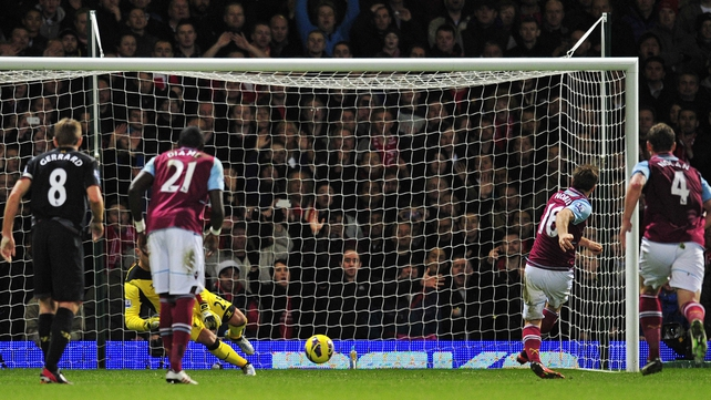 Noble's penalty brought West Ham level