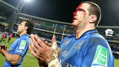 Shane Jennings shows the scars of their battle in France