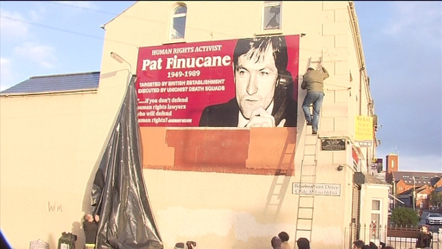 Mural of Pat Finucane unveiled