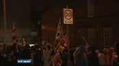 Roads blocked by protesters as union flag controversy continues