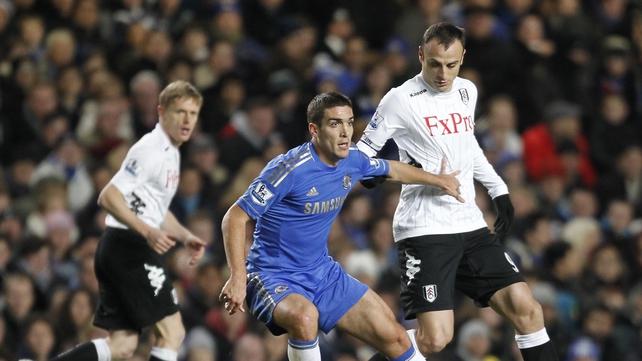 Romeu in action for Chelsea against Fulham on 28 November