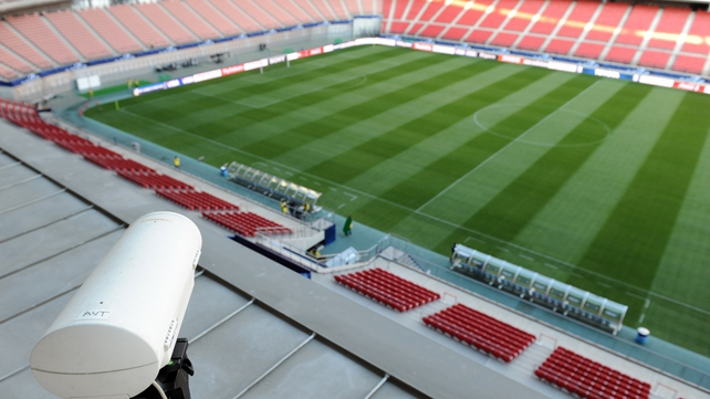 Platini does not favour the use of a Hawk-Eye camera as seen here for the Club World Cup in Japan