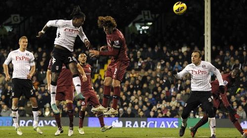 Hugo Rodellega scores for Fulham against Newcastle last night