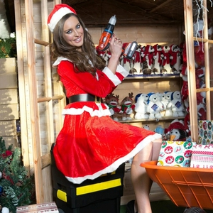 Top model Roz Purcell prepares for Christmas at B&Q at Airside Retail Park, Swords. (c) Conor McCabe Photography