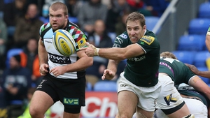 O'Leary during his last appearance for London Irish against Harlequins