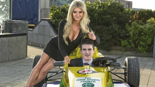 Craig Breen pictured with model Rachel Wallace at the awards
