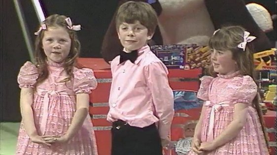 Children on The Late Late Toy Show 1981.