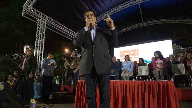Venezuelan Vice-President Nicolas Maduro speaks in Caracas after Hugo Chavez's cancer operation