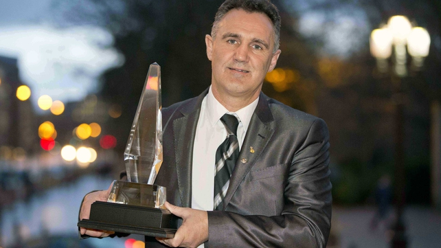 Billy Walsh received the Phillips Sports Manager of the Year award on behalf of himself and the absent Pete Taylor at an awards lunch in Dublin on Wednesday