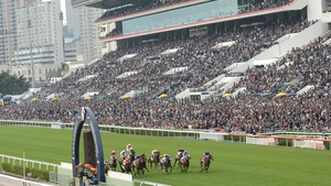 Sha Tin race course in Hong Kong, where the crowds gathered for on of Asia's biggest race meetings