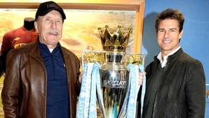 Robert Duvall and Tom Cruise get their hands on the Barclays Premier League trophy